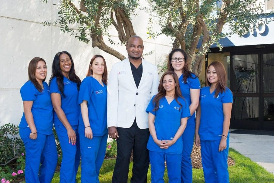 Non surgical nose job clinic crew