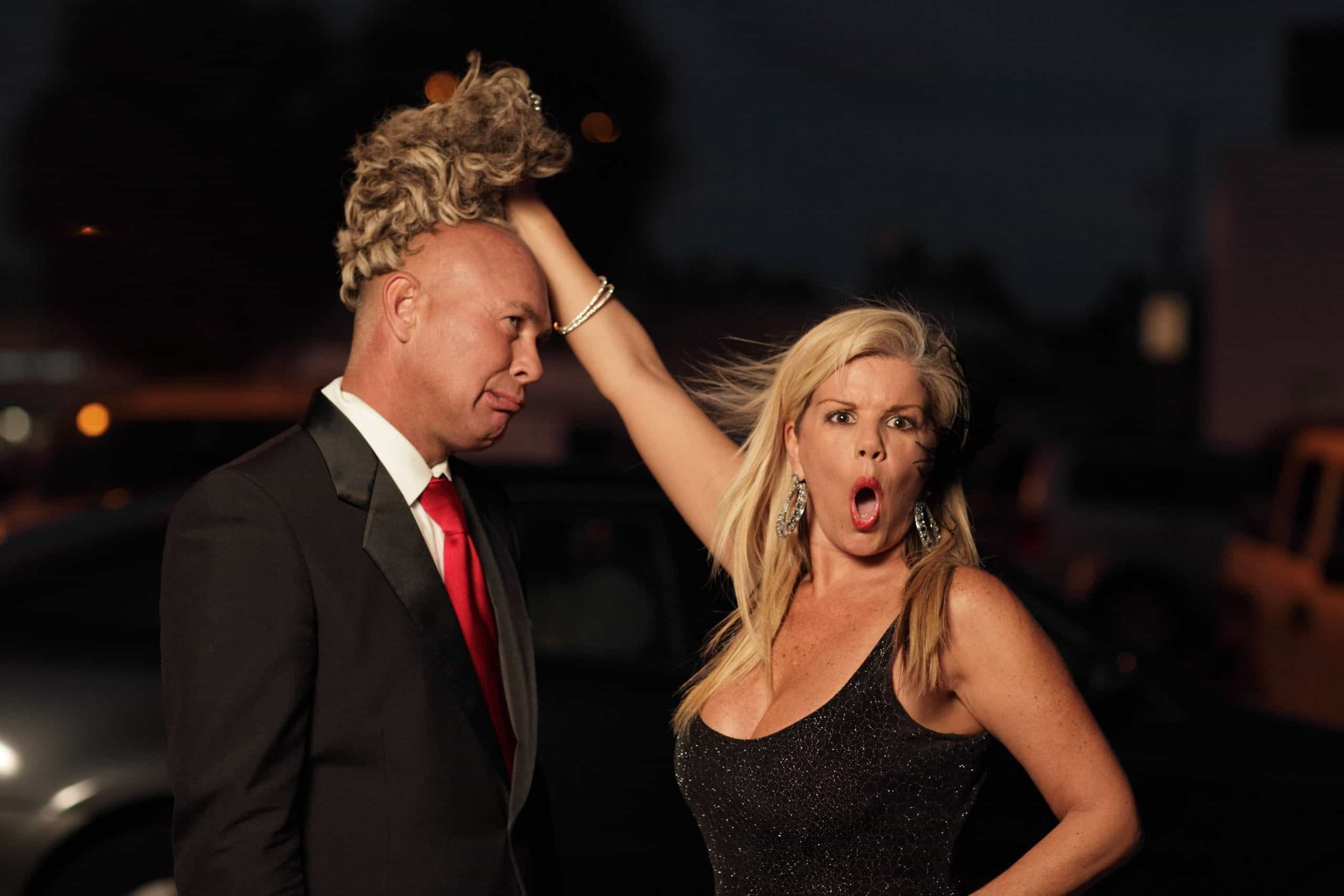 A male hairpiece or a toupee can be difficult to keep as a secret for prolonged periods of time.