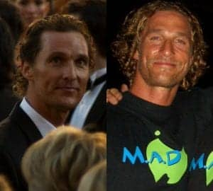 Pictured On The Left At 83rd Academy Awards McConaugheys Bro Flow Hair Projects An