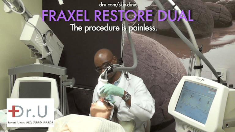 To produce the best laser skin resurfacing before and after results and experience, Dr. Umar provides numbing for a painless procedure.