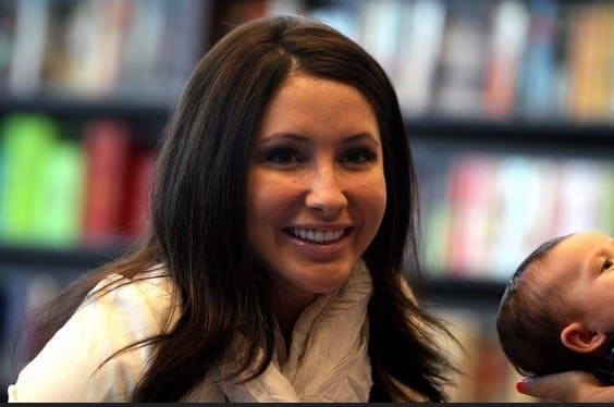 Bristol Palin states that her chin augmentation is due to jaw surgery.